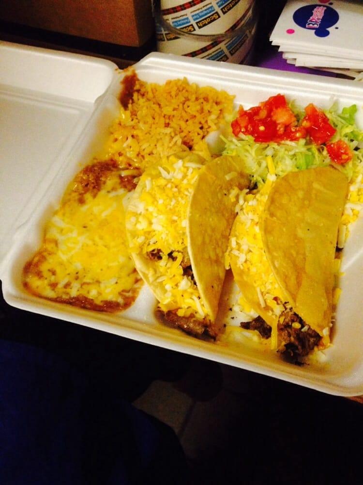Castillos Restaurant San Jose Castillo 39 s Mexican Restaurant Tacos With Rice And Beans San Jose ca