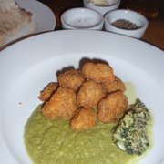 "Lamb sweetbreads, ""mushy"" peas and mint…"