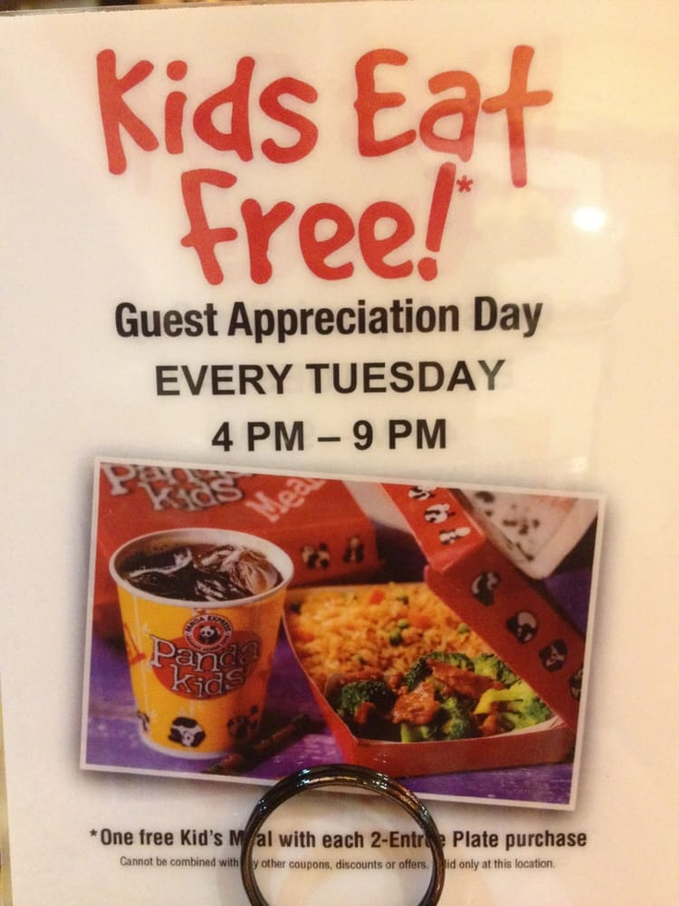 no Panda Express participating-might want to call your local Panda Express before heading out!Hope you find one with the kids eat free Reply Mojo October 11, at pm.