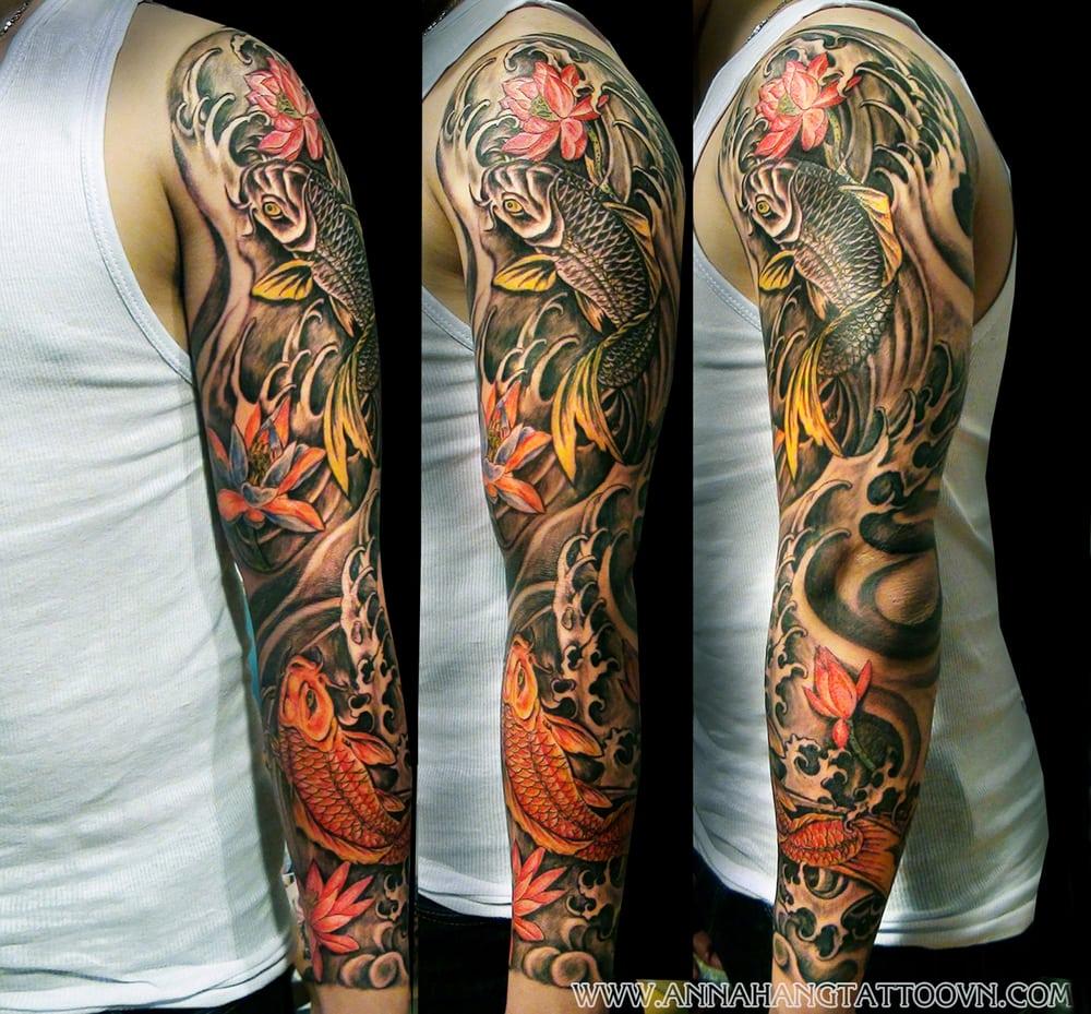 28 Colored Full Sleeve Tattoos: Garden Grove, CA
