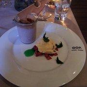Dessert - erdbeer Creme brulet
