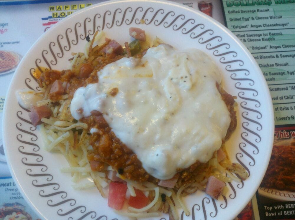 Waffle House Hash Browns All The Way Waffle House Hashbrowns Scattered All The Way a Meal All on it 39 s Own