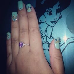Princess jasmine nail design joy studio design gallery for 3d nail art salon new jersey