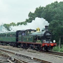 SECR H-class locomotive No.263 on the Bluebell Railway.