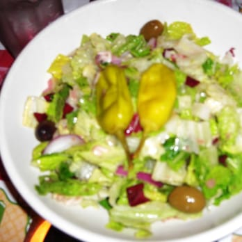 Mixed Green Salad With An Italian Vinaigrette Recipes — Dishmaps