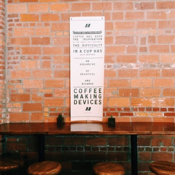 Mission Coffee Co. - Columbus, OH, United States. Wonderfully minimal bar area.