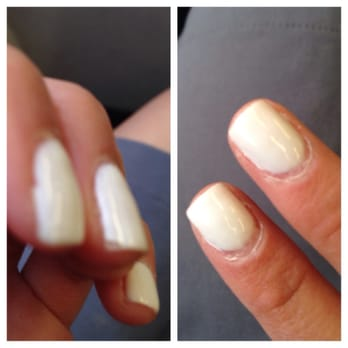 Luxe Lounge & Spa - San Diego, CA, United States. Worst gel manicure I