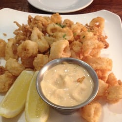 Trancas Steakhouse - Napa, CA, États-Unis. Calamari was cooked perfectly.