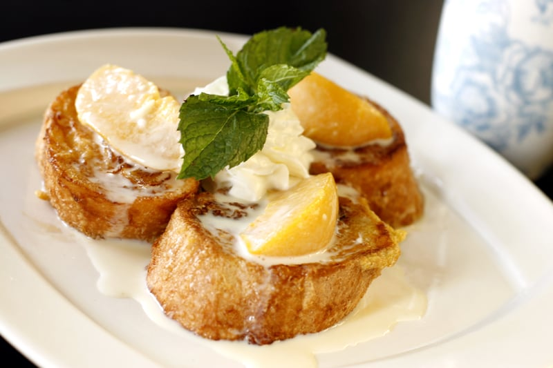 ... Milford, CT, United States. Peaches And Cream Stuffed French Toast