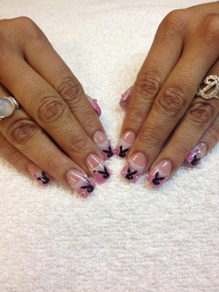 Nail Art - Las Vegas, NV, United States. Playboy bunny nail