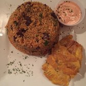 Waiter's Bar & Grill - San Juan, Puerto Rico, Puerto Rico. Skirt Steak with Puerto Rican Rice. You must try it!