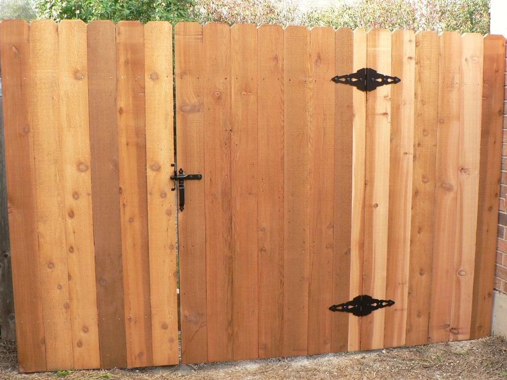 Standard Cedar Gate Using 2 Grade Cedar Pickets And Rough Sawn 2
