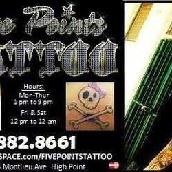 Five points tattoo high point nc united states yelp for Five points tattoo