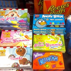 Des bonbons Candy Rush et Angry Bird