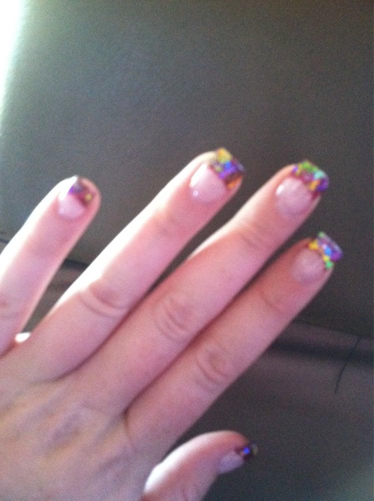 La Belle Nails - Reno, NV, United States. Gel Mylar nails by Wendy :-)