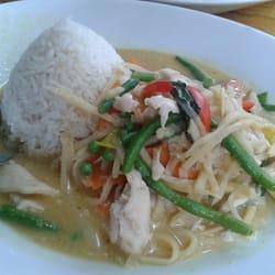 Der Klassiker: Green-Curry-Chicken
