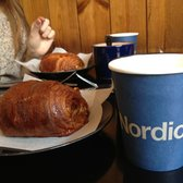 Nordic Bakery - Hot chocolate and their famous cinnamon bun - London, United Kingdom