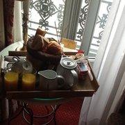 Continental breakfast at Hotel du…