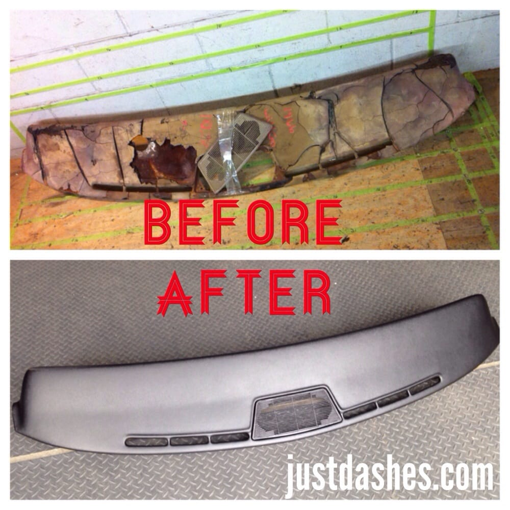 before and after 1966 buick electra dash pad restoration yelp. Black Bedroom Furniture Sets. Home Design Ideas