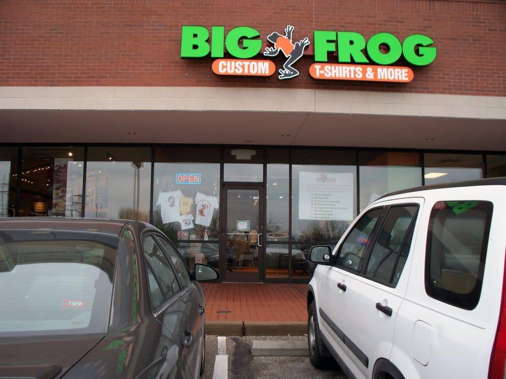 Big frog custom t shirts more fashion creve coeur for Custom t shirts springfield mo