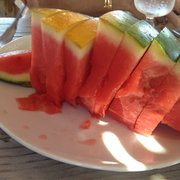 Watermelon in casual lunch hut