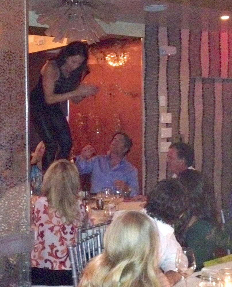 Loud obnoxious drunk woman dancing on the table at barton for Table dance near me