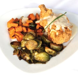 Rhett's - Southern Cordon Blue with Sauteed Brusell Sprouts and Sweet Potato-Apple Hash - Southern Pines, NC, Vereinigte Staaten