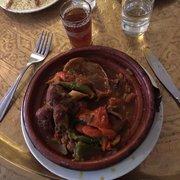 La Mosquée - Paris, France. Tagine de l'agneau avec poivre, ognions, tomates,...  Delicious!!