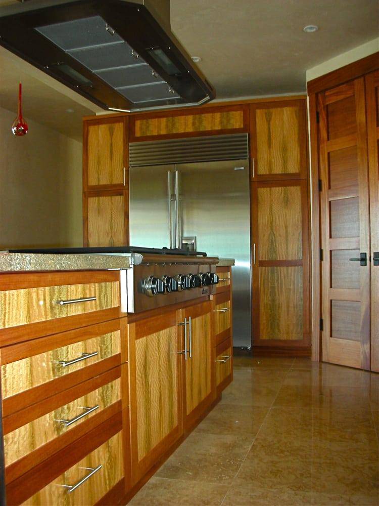 Hi Design Custom Cabinetry ~ Hawaiian custom cabinetry mahogany shaker door style with