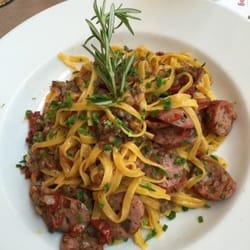 Very good pasta dish with sausage.