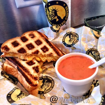 ... Manors, FL, United States. Grilled Mac n Cheese with Tomato Bisque