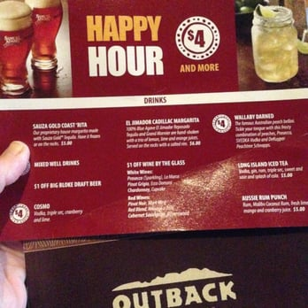 Outback happy hour horario