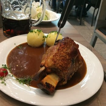 ... In The Squaire - Frankfurt, Hessen, Germany. Oktoberfest Pork Shank