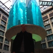 The famous aquarium in the Radisson lobby