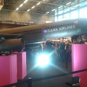 Paris Expo - Paris, France. Un avion tout chocolat, au Salon du chocolat.