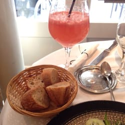 Le Sâotico - Paris, France. The bread and my grapefruit juice