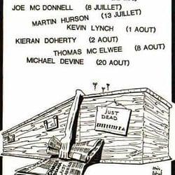Karikaturen aus den frühen 80er Jahren, Paris, France
