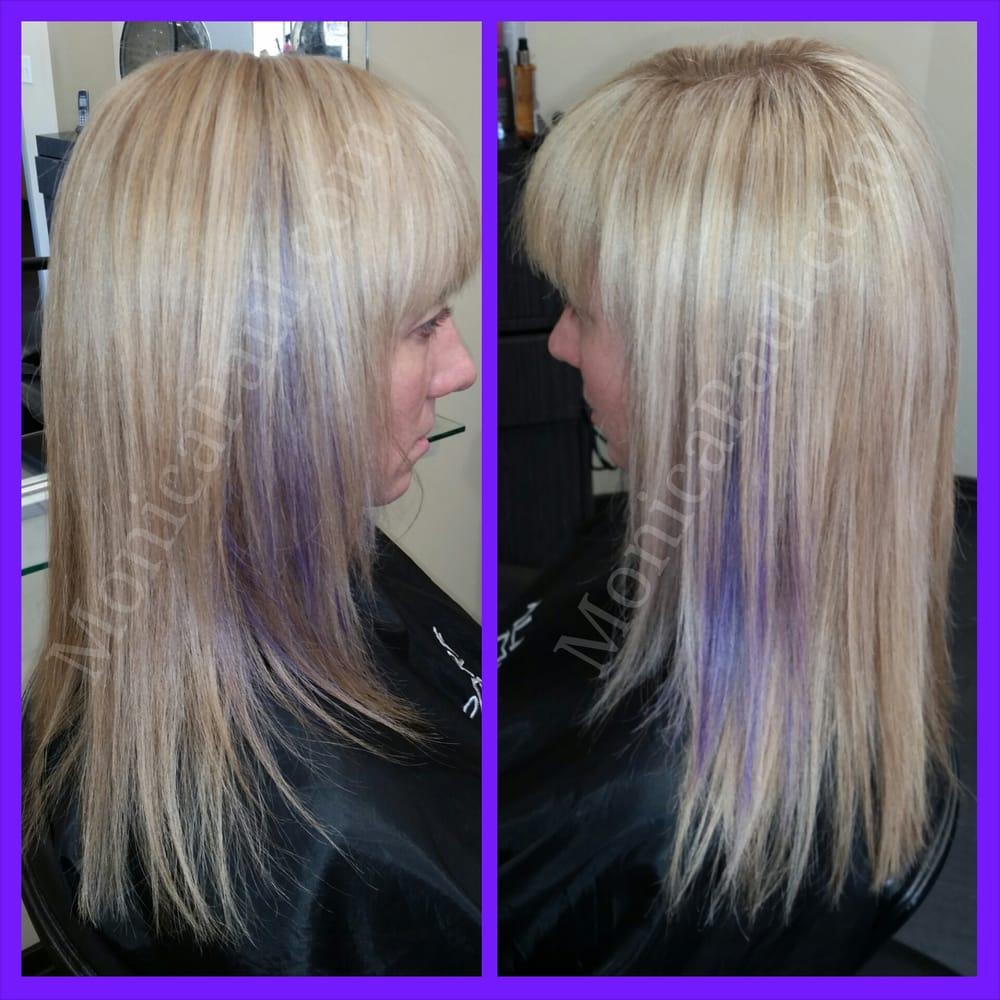 Lavender Highlights Blonde Hair Lektonfo