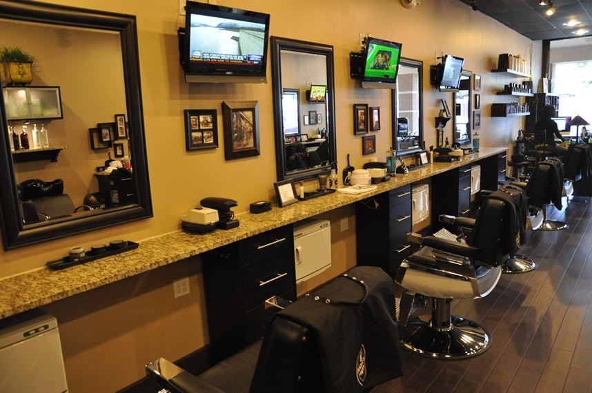 Modern barber shop interior simple hit home design ideas - Barber shop interior ...