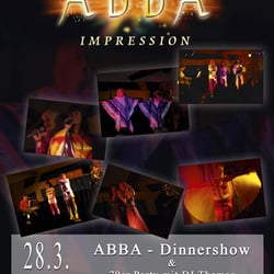 Abba Dinnershow, Haus Ledendecker, Dortmund, Nordrhein-Westfalen