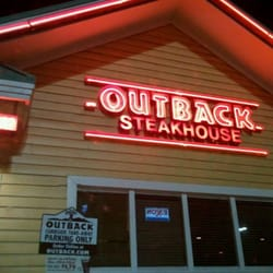 The menu at Outback Steakhouse in Houston, Texas is packed with a number of options influenced by Australian fare and served in gigantic portions.