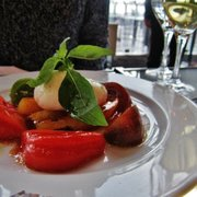 Le Georges - Paris, France. Burrata and tomatoes