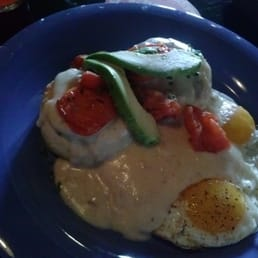Brunch biscuits and gravy