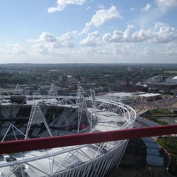 View of the Olympic Stadium & the crowds…