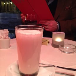 Steamed vanilla milk - delicious on a chilly evening!