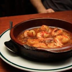 shrimp on fire after the fire goes out.…
