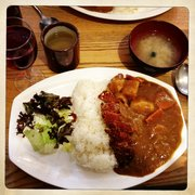 Chicken katsu curry and comes with Misho…
