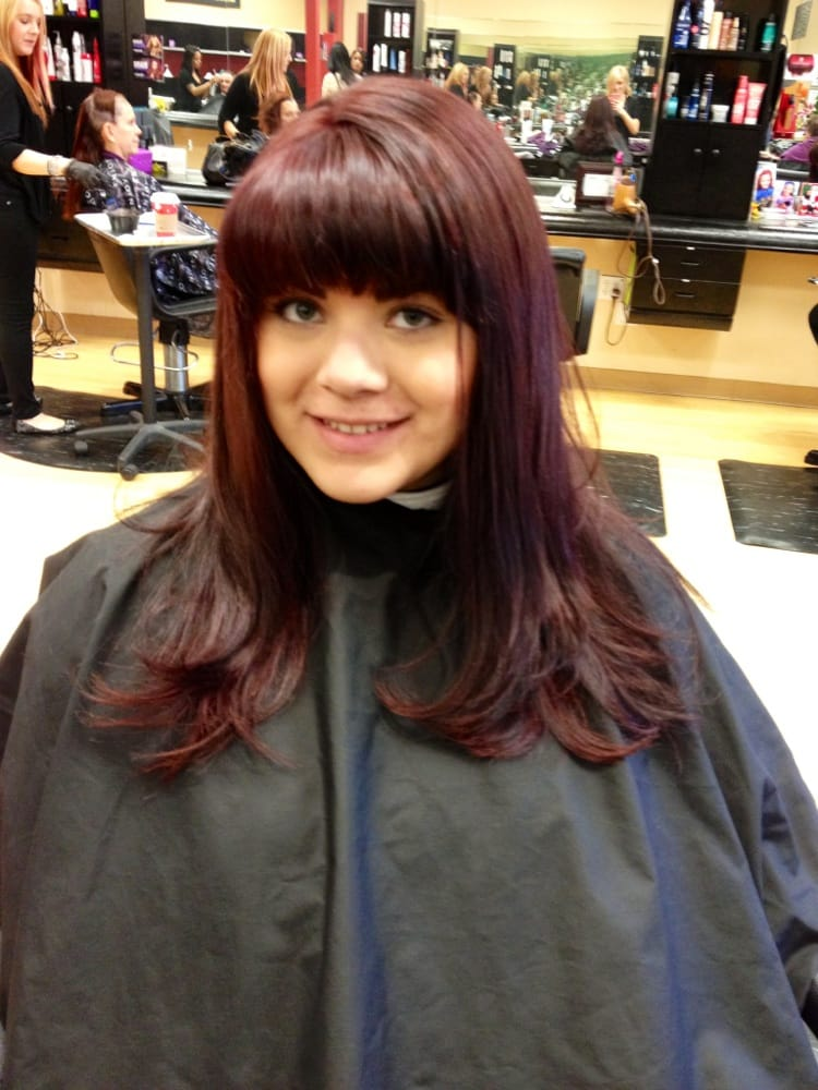 ... Salon - Encinitas, CA, United States. Cherry cola red hair by Samantha
