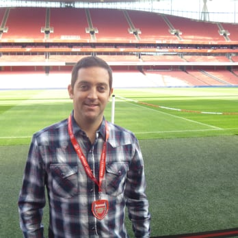 Pitch-side at The Emirates