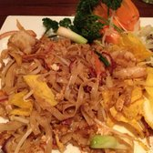 Pad Thai .... Savory noodles with shrimp, eggs and nice lemony sweet flavor